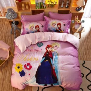 Beautiful Sisters Elsa Anna Pink Bedding Set