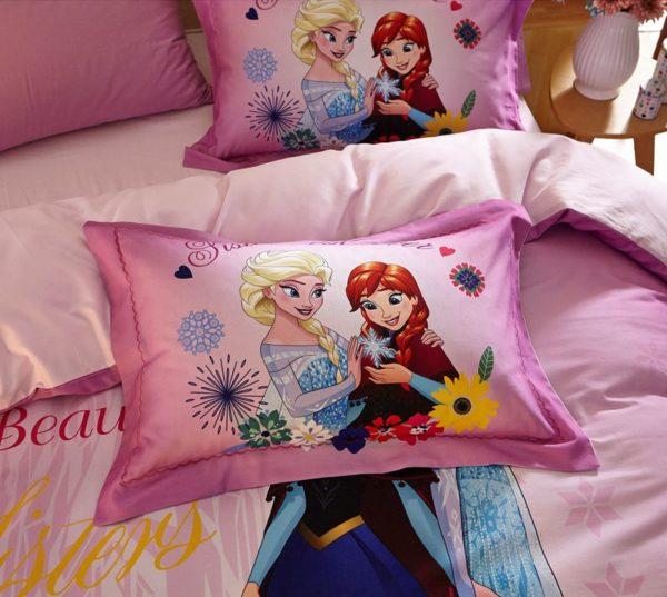 Beautiful Sisters Elsa Anna Pink Bedding Set 4 600x537 - Beautiful Sisters Elsa Anna Pink Bedding Set