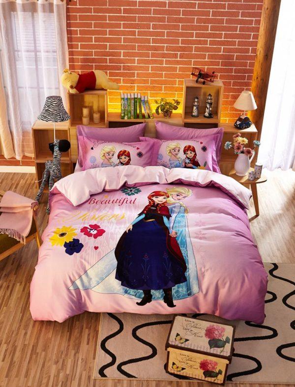 Beautiful Sisters Elsa Anna Pink Bedding Set 8 600x788 - Beautiful Sisters Elsa Anna Pink Bedding Set