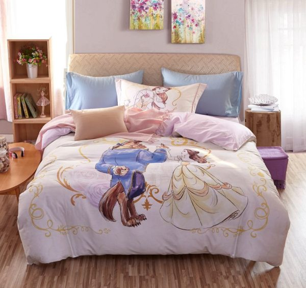 Beauty and the Beast Bedding Set for Adults Twin Queen Size 10 600x566 - Beauty and the Beast Bedding Set for Adults Twin Queen Size