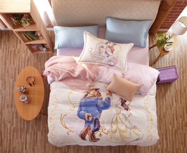Beauty and the Beast Bedding Set for Adults Twin Queen Size 2 600x492 - Beauty and the Beast Bedding Set for Adults Twin Queen Size
