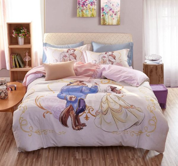 Beauty and the Beast Bedding Set for Adults Twin Queen Size 3 600x560 - Beauty and the Beast Bedding Set for Adults Twin Queen Size