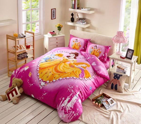 Belle and Aurora Disney Princess Bedding Set 1 600x527 - Belle and Aurora Disney Princess Bedding Set