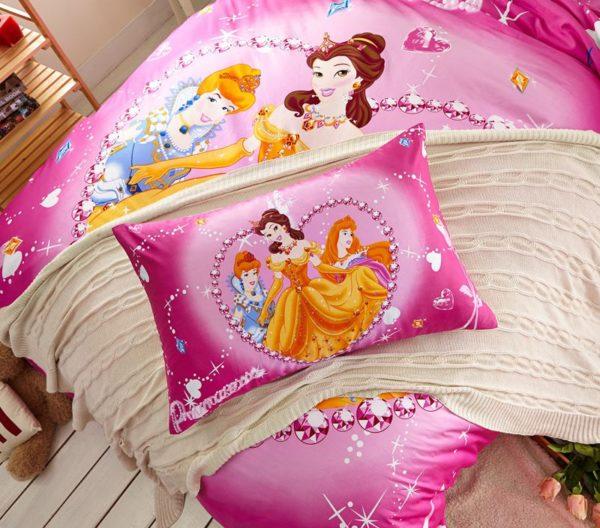 Belle and Aurora Disney Princess Bedding Set 4 600x528 - Belle and Aurora Disney Princess Bedding Set