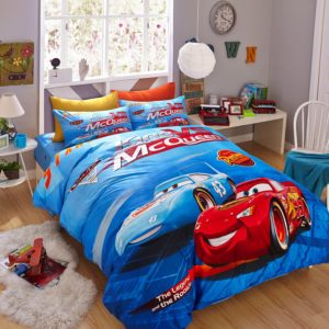 Blue Color Disney Cars Bedding Set