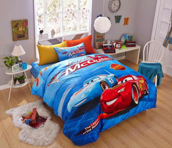 Blue Color Disney Cars Bedding Set 2