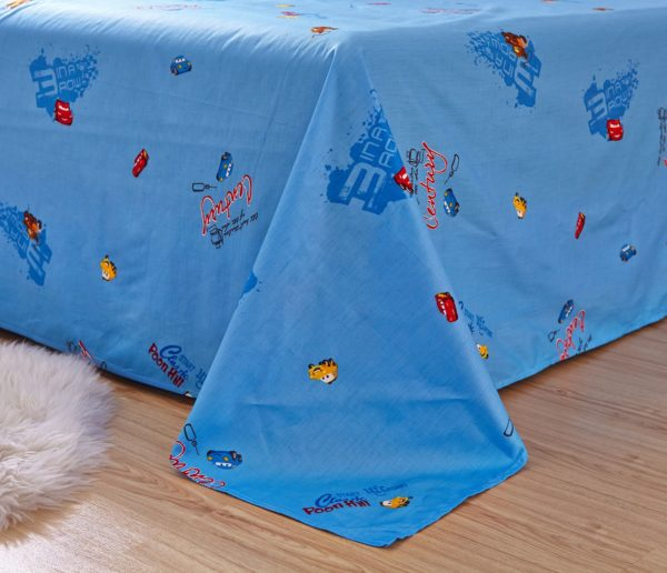 Blue Color Disney Cars Bedding Set 3