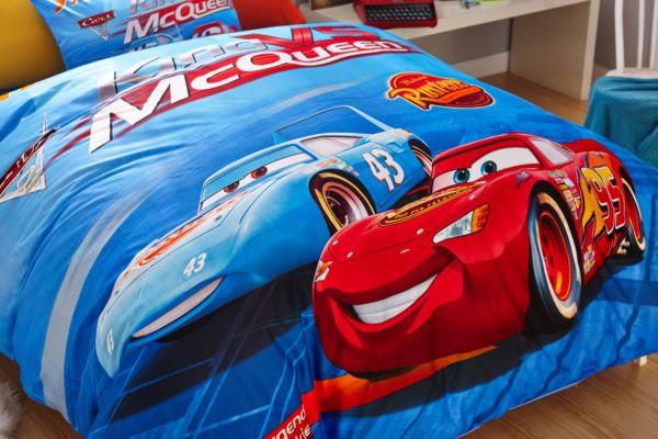 Blue Color Disney Cars Bedding Set 5