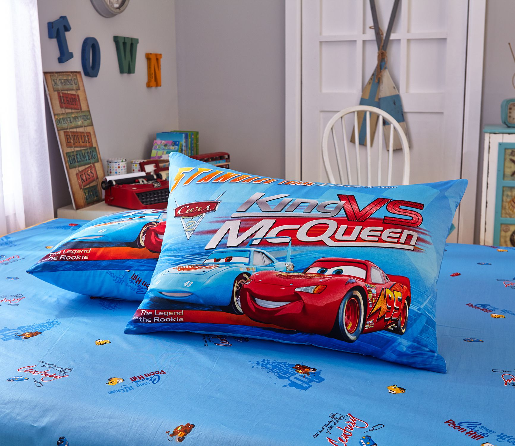 Blue Color Disney Cars Bedding Set Ebeddingsets