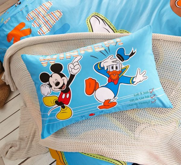 Blue Color Mickey Mouse Kids Bedding Set 4 600x546 - Blue Color Mickey Mouse Kids Bedding Set