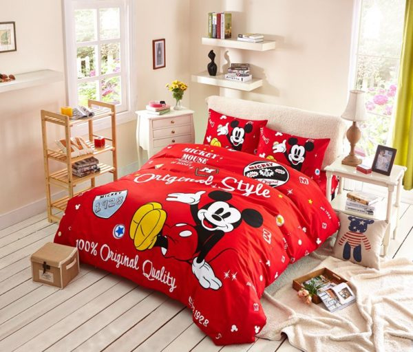 Boys Mickey Mouse Comforter Set Twin Queen Size 1