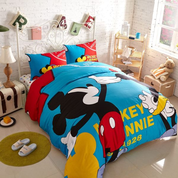 Buy Mickey and Minnie Mouse Twin Queen Adults Cartoon Bedding Set