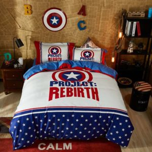 Captain America Project Rebirth Teen Bedroom Bedding Set