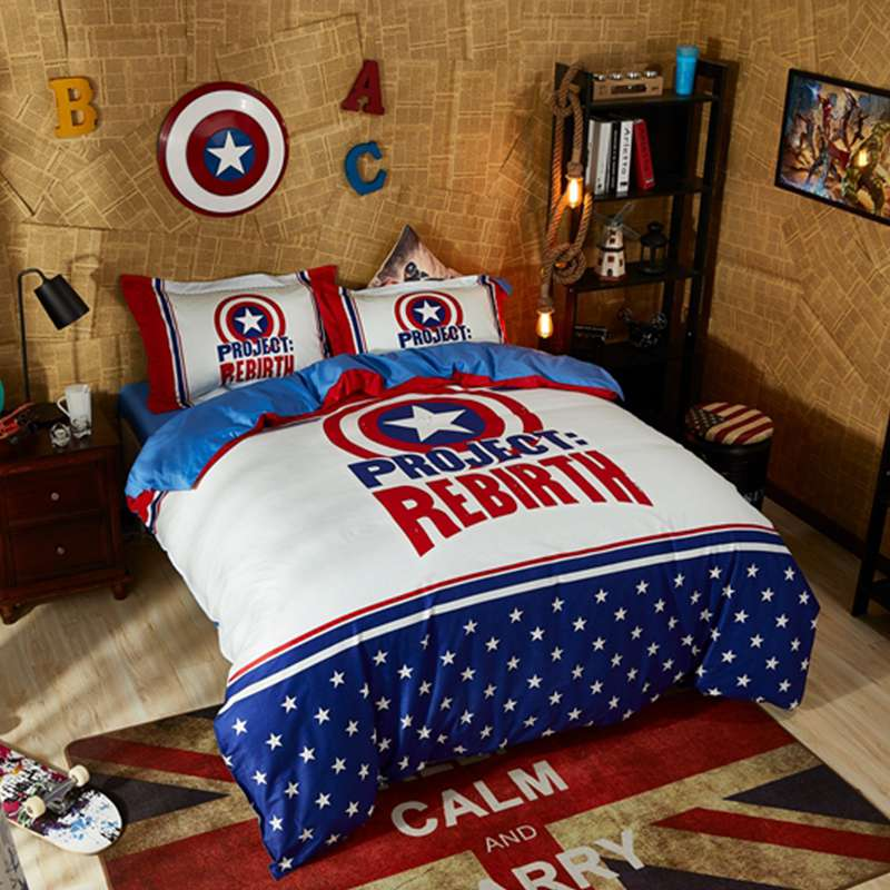 Captain America Project Rebirth Teen Bedroom Bedding Set | EBeddingSets