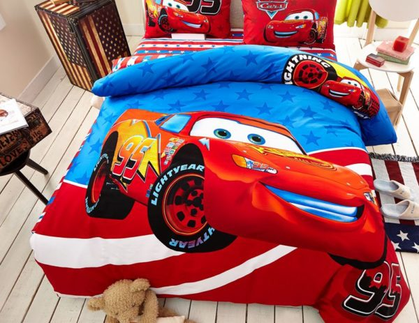 Cars Movie Themed Bedding Set 6 600x463 - Cars Movie Themed Bedding Set