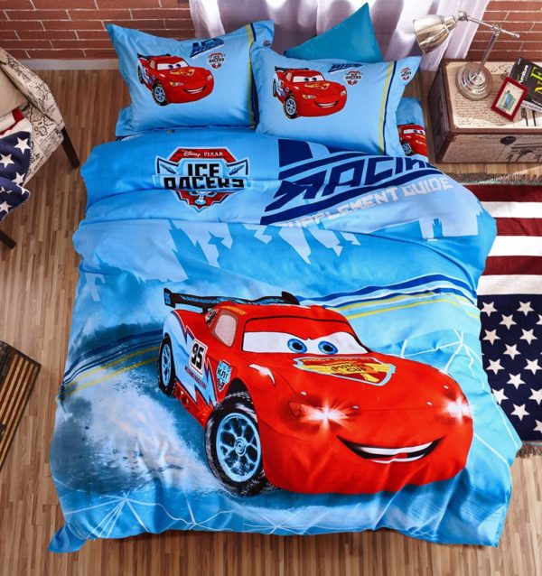 Cars Movie twin queen comforter set for Boys 1