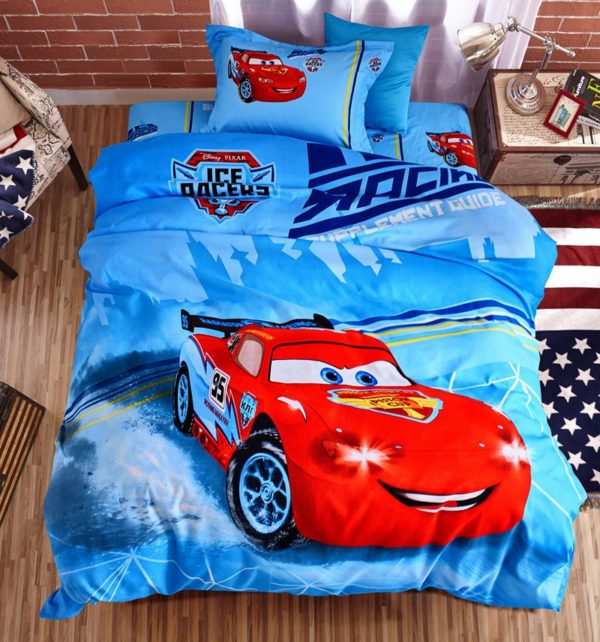 Cars Movie twin queen comforter set for Boys 2