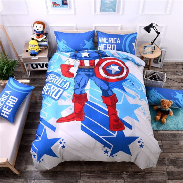 Cheerful Captain America Bedding Set