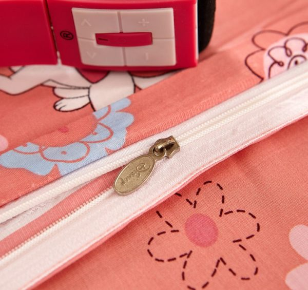Cheerful Light Pink Marie Cat Bedding Set 5