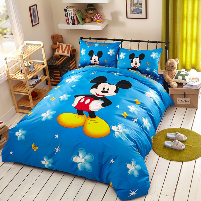 Mickey Mouse Bedding Set Queen Size Part - 20: Classic Mickey Mouse Bedding Set Twin Queen Size