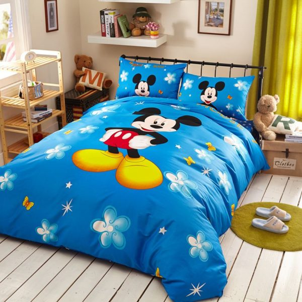 Classic Mickey Mouse Bedding Set Twin Queen Size 5