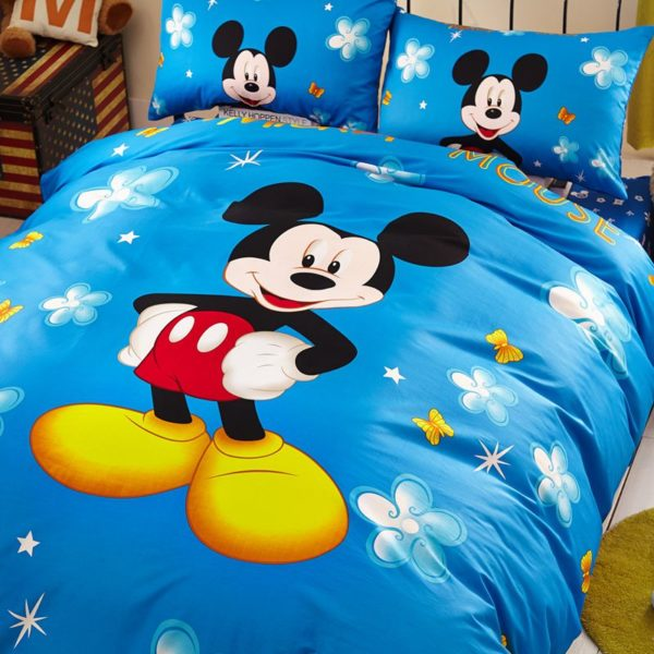 Classic Mickey Mouse Bedding Set Twin Queen Size 6