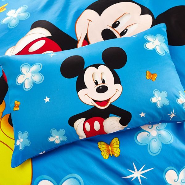 Classic Mickey Mouse Bedding Set Twin Queen Size 9 600x600 - Classic Mickey Mouse Bedding Set Twin Queen Size