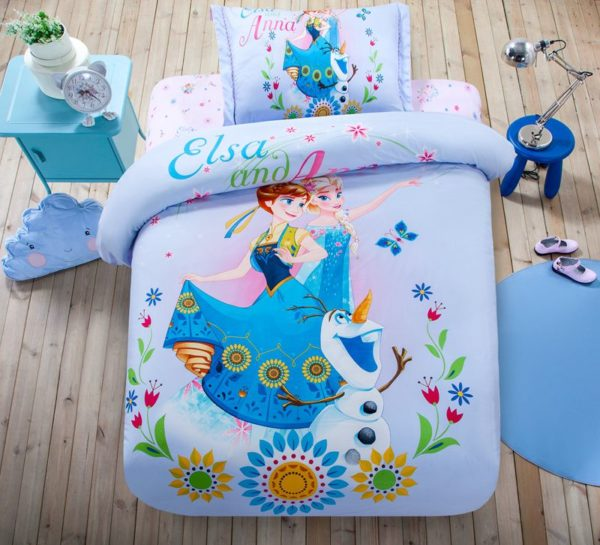 Cute Teen Girls Frozen Theme Bedding Set 1 600x545 - Cute Teen Girls Frozen Theme Bedding Set