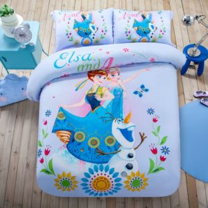 Cute Teen Girls Frozen Theme Bedding Set