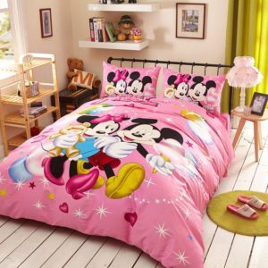 Dazzling Mickey Minnie Birthday Gift Bedding Set (1)