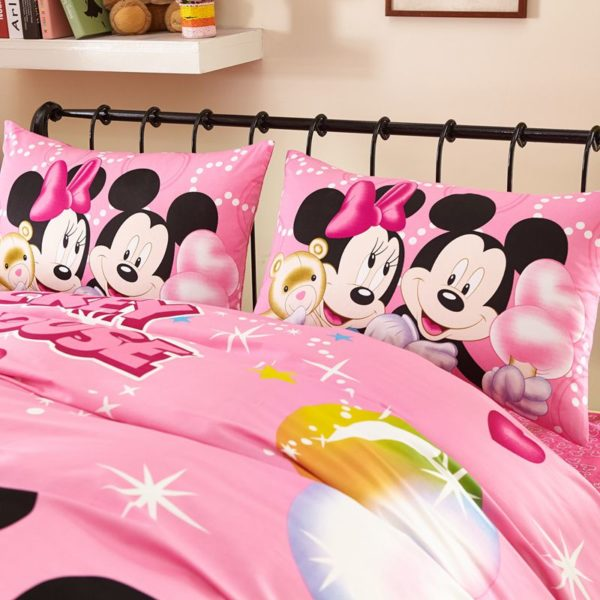 Dazzling Mickey Minnie Brithday Gift Bedding Set 6 600x600 - Dazzling Mickey Minnie Birthday Gift Bedding Set