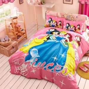 Decorative Princess Hot pink Color Bedding Set