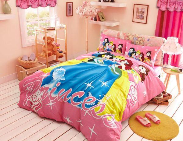 Decorative princess hotpink color bedding set 10 600x463 - Decorative Princess Hot pink Color Bedding Set