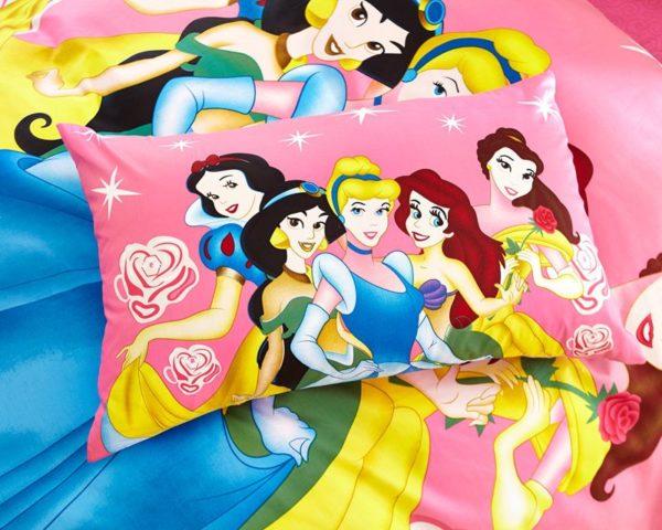 Decorative princess hotpink color bedding set 4 600x480 - Decorative Princess Hot pink Color Bedding Set