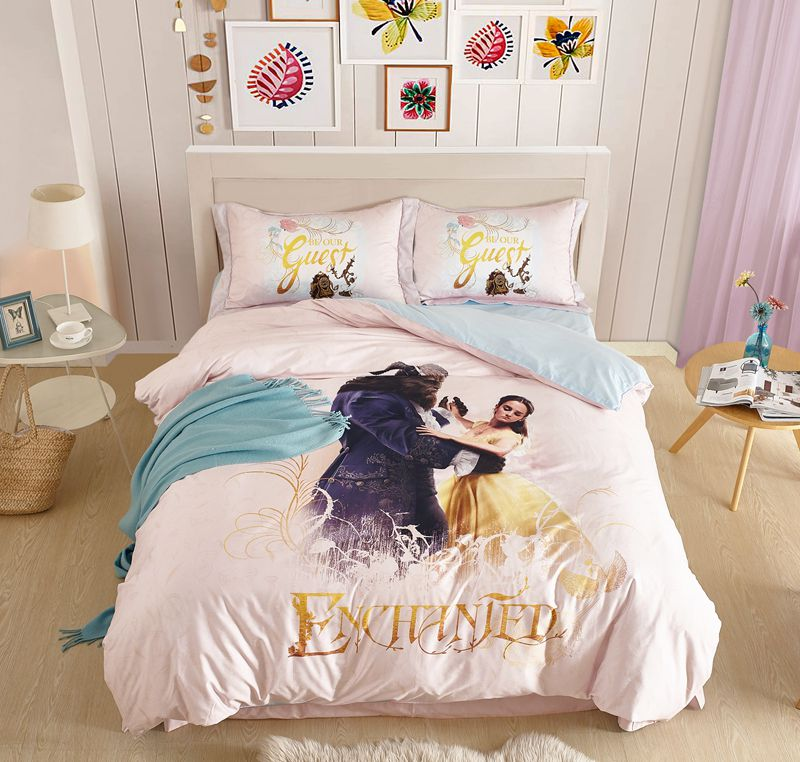 disney beauty and the beast movie themed bedding set