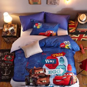 Disney Cars 3 Movie Birthday Gift Bedding Set for Kids