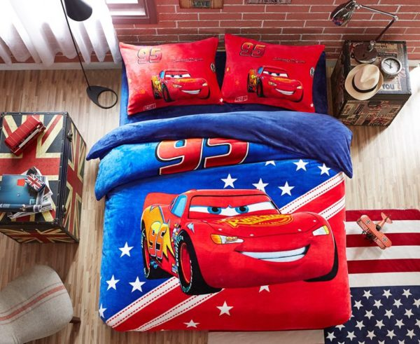 Disney Cars Film Themed Kids Bedding Set Twin Queen Size 1 600x491 - Disney Cars Film Themed Kids Bedding Set Twin Queen Size