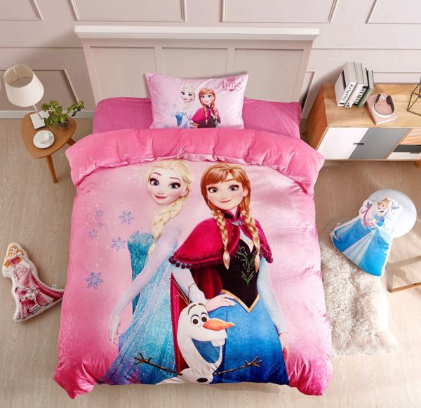 Disney Frozen Anna Elsa Teen Girls Bedding Set 2 600x581 - Disney Frozen Anna & Elsa Teen Girls Bedding Set