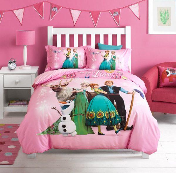 Disney Frozen Comforter Set for Kids Room 9 600x591 - Disney Frozen Comforter Set for Kids Room