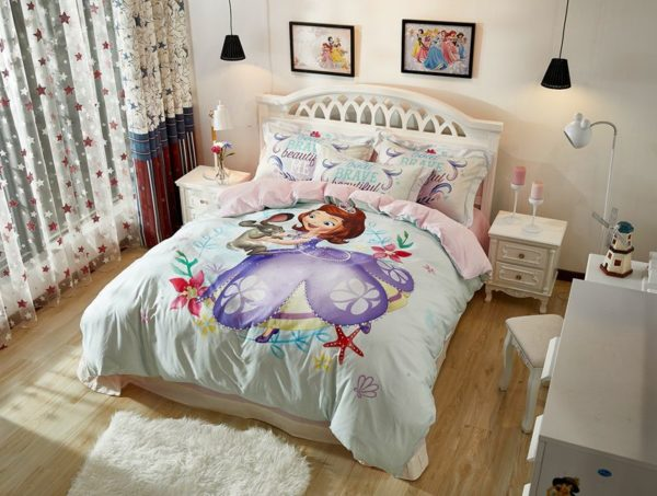 Disney Junior Sofia the First Princess Little Girl Bedding Set 3