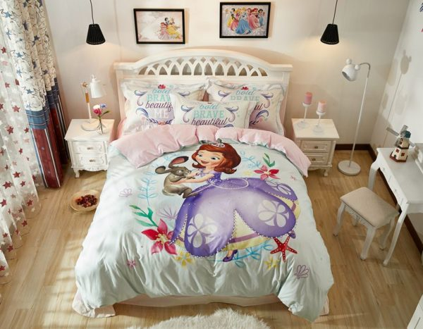 Disney Junior Sofia the First Princess Little Girl Bedding Set 9