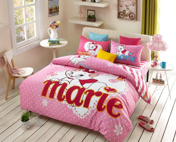 Disney Marie Cat Bedding Set for Pink Teen Girls Bedrrom 1