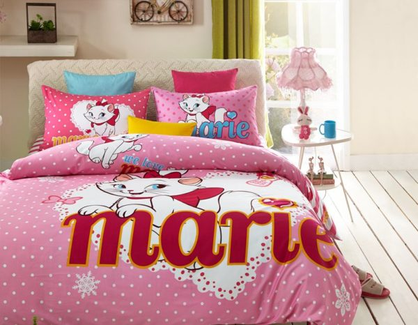 Disney Marie Cat Bedding Set for Pink Teen Girls Bedrrom 8