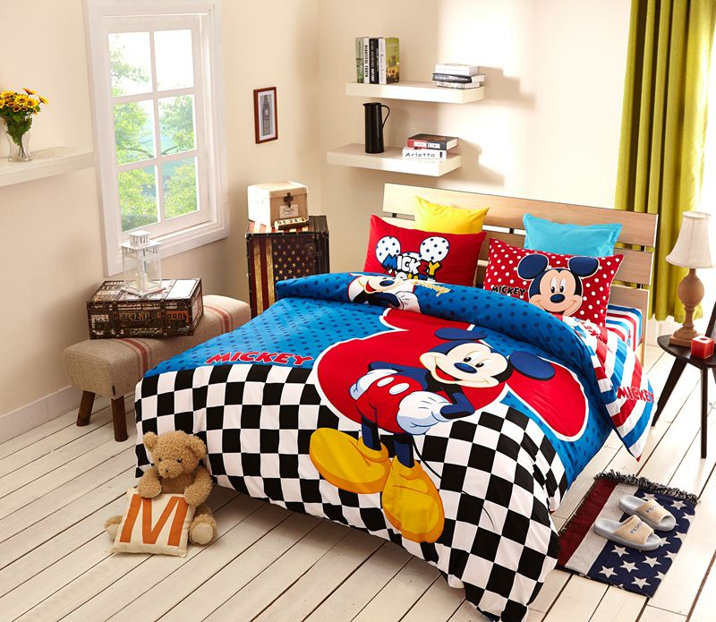 Disney Mickey Mouse Bedding Set For Teen Boys Kids Bedroom