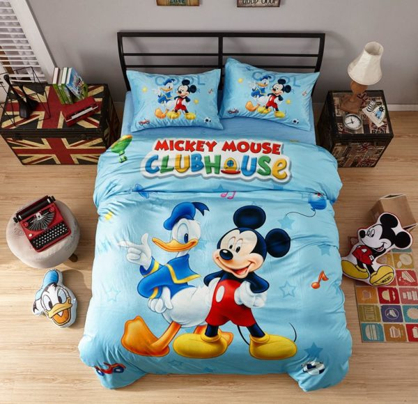 Disney Mickey Mouse Club House Childrens Bedding Set 1 600x580 - Disney Mickey Mouse Club House Childrens Bedding Set