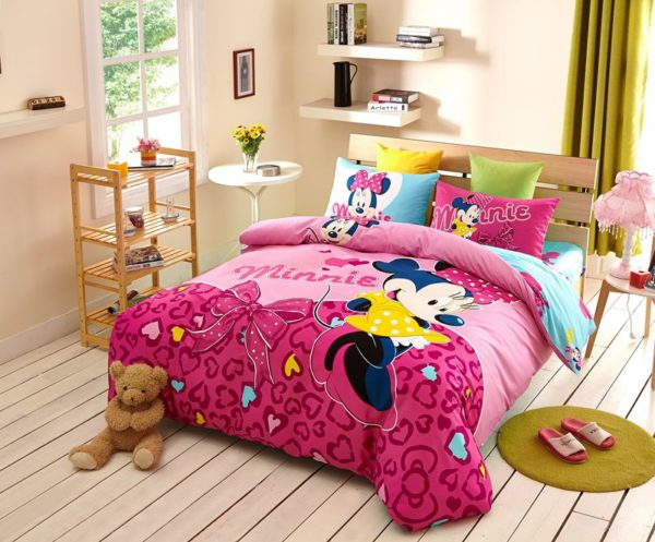 Disney Minnie Mouse Pink Bedding Set For Teen Girls Bedroom 1