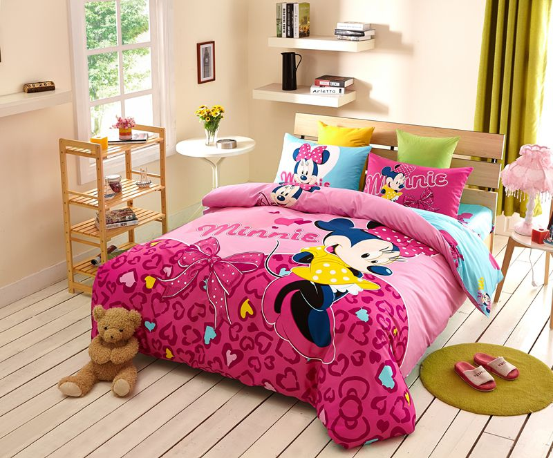 Disney Minnie Mouse Pink Bedding Set For Teen Girls Bedroom ...