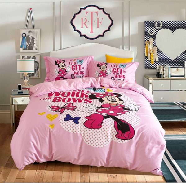 Disney Minnie Mouse cute teen comforter set 9 600x590 - Disney Minnie Mouse Cute Teen Comforter Set