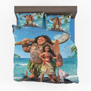 Disney Moana Princess and Maui Movie Theme Comforter Set