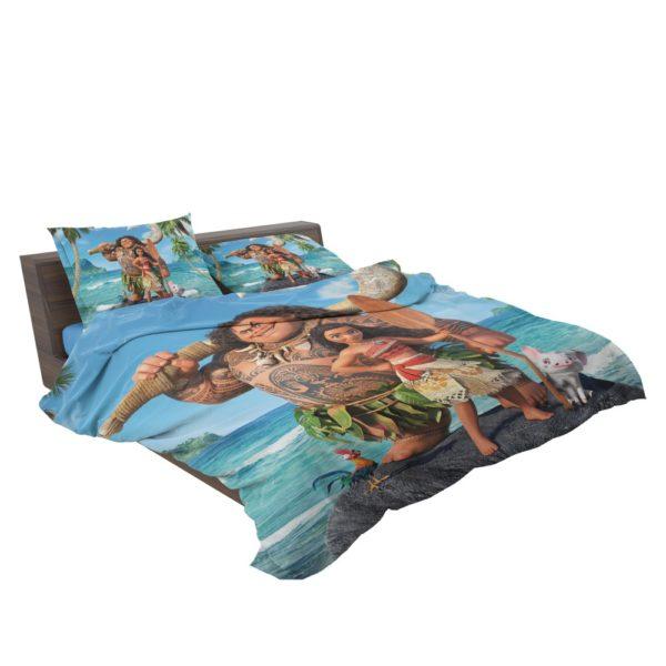 Disney Moana Princess and Maui Movie Theme Comforter Set
